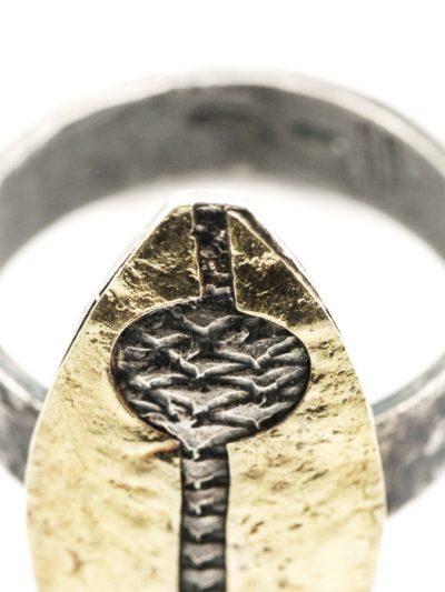anello pesce razzo lamina oro