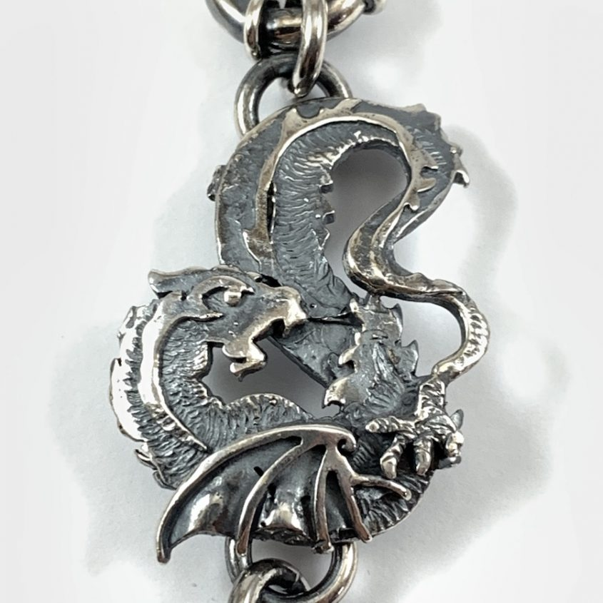 Bracciale drago catena 3