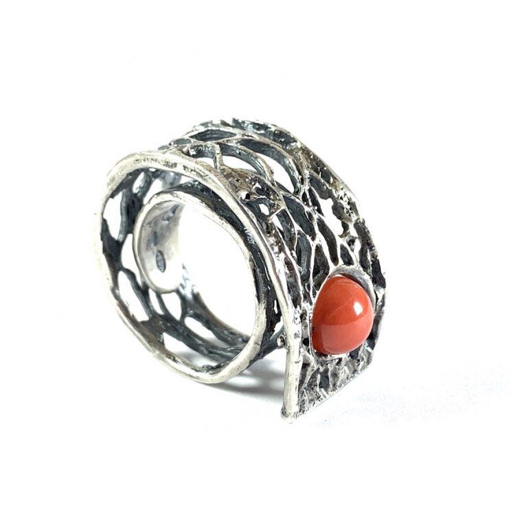 anello babaluci corallo